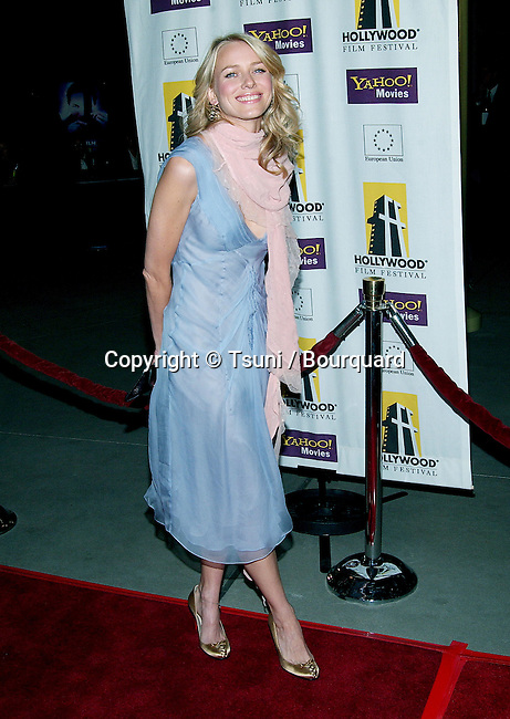 Naomi Watts arriving at the Hollywood Film Festival's Opening Night: The Ring premiere at the ArcLight Theatre in Los Angeles. October 2, 2002.