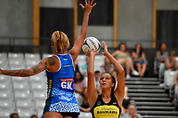 Pulse&rsquo; Sulu Fitzpatrick in action during the Pre Season Tournament - Pulse v Mystics at Ngā  Purapura, Otaki, New Zealand on Saturday 9 February  2019. <br /> Photo by Masanori Udagawa. <br /> www.photowellington.photoshelter.com