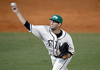 Florida International University right handed pitcher Michael Ellis (25)  plays against Florida Atlantic University. FAU won the game 9-5 on March 17, 2012 at Miami, Florida.