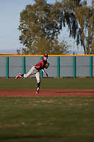 J.C. Dyer (1) of Desert Ridge High School in Mesa, Arizona during the Baseball Factory All-America Pre-Season Tournament, powered by Under Armour, on January 14, 2018 at Sloan Park Complex in Mesa, Arizona.  (Freek Bouw/Four Seam Images)