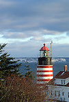 West Quoddy Head Lighthouse in Lubec, Maine, USA
