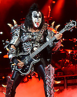 ALBUQUERQUE NM - AUGUST 7:  Gene Simmons of Kiss performs at the Hard Rock Casino Albuquerque on August 7, 2012 in Albuquerque, New Mexico. /NortePhoto.com<br />