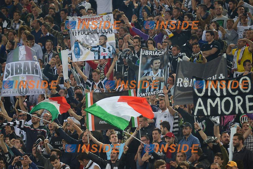 Tifosi Juventus Supporters.Roma 15/04/2013 Stadio Olimpico.Football Calcio 2012/2013 Serie A.Lazio Vs Juventus.Foto Andrea Staccioli Insidefoto