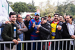 Babar Hayat(C) of Kowloon Cantons pose for photos with fans during the Hong Kong T20 Blitz match between Kowloon Cantons and HKI United at Tin Kwong Road Recreation Ground on March 11, 2017 in Hong Kong, Hong Kong. Photo by Marcio Rodrigo Machado / Power sport Images