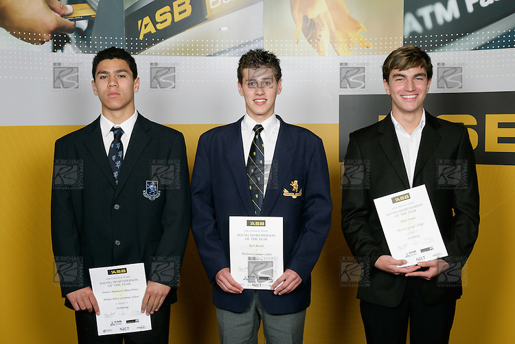 Swimming Boys Finalists. ASB College Sport Young Sportsperson of the Year Awards 2006, held at Eden Park on Thursday 16th of November 2006.<br />