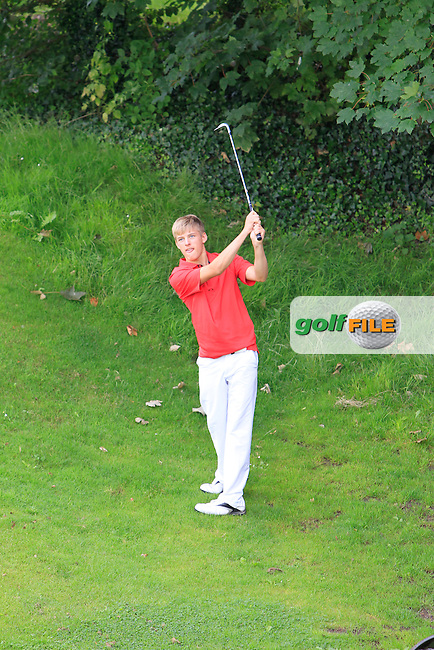 David Fenn (Killiney) on the 1st during Round 1 of the Grange Dublin Boys on Monday 21th July 2014.<br /> Picture:  Thos Caffrey / www.golffile.ie