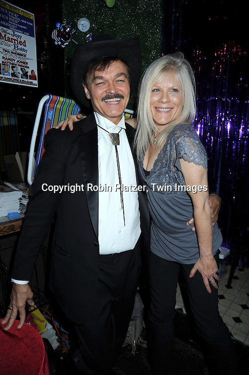 Randy Jones and actress Ilene Kristen at Porno Bingo at Pieces on April 28, 2010 in New York City. The event was sponsored by WeLoveSoaps.com and benefitted The American Foundation for Suicide Prevention.
