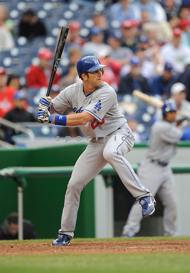 CASEY BLAKE, of the Los Angeles Dodgers, in action during the Dodgers game against the Washington Nations  at Nationals Park in Washington D.C.on April 25, 2010.   The Dodgers win the game 1-0....