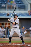 Bradenton Marauders catcher Jason Delay (5) at bat during a game against the Charlotte Stone Crabs on August 6, 2018 at Charlotte Sports Park in Port Charlotte, Florida.  Charlotte defeated Bradenton 2-1.  (Mike Janes/Four Seam Images)