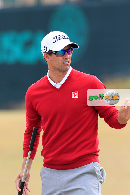 Adam Scott (AUS) putts on the 17th green during Thursday's Round 1 of the 2015 U.S. Open 115th National Championship held at Chambers Bay, Seattle, Washington, USA. 6/18/2015.<br /> Picture: Golffile | Eoin Clarke<br /> <br /> <br /> <br /> <br /> All photo usage must carry mandatory copyright credit (&copy; Golffile | Eoin Clarke)