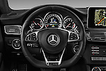 Car pictures of steering wheel view of a 2016 Mercedes Benz CLS-Shooting-Brake 63-AMG-S 5 Door Wagon Steering Wheel