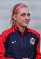 Boyds, MD - Saturday July 09, 2016: Megan Oyster prior to a regular season National Women's Soccer League (NWSL) match between the Washington Spirit and the Chicago Red Stars at Maureen Hendricks Field, Maryland SoccerPlex.