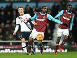 West Ham's Pedro Obiang tussles with Tottenham's Christian Eriksen<br /> <br /> - English Premier League - West Ham Utd vs Tottenham  Hotspur - Upton Park Stadium - London - England - 2nd March 2016 - Pic David Klein/Sportimage