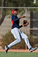 Cleveland Indians Oscar Gonzalez (39) during an instructional league game against the Milwaukee Brewers on October 8, 2015 at the Maryvale Baseball Complex in Maryvale, Arizona.  (Mike Janes/Four Seam Images)