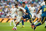 Alvaro Morata of Real Madrid battles for the ball with Facundo Roncaglia of RC Celta de Vigo during their La Liga match at the Santiago Bernabeu Stadium between Real Madrid and RC Celta de Vigo on 27 August 2016 in Madrid, Spain. Photo by Diego Gonzalez Souto / Power Sport Images