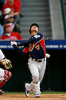 Kosuke Fukudome of Japan during World Baseball Championship at Angel Stadium in Anaheim,California on March 12, 2006. Photo by Larry Goren/Four Seam Images
