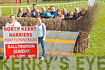 Ballybunion Point to Point: Pictured at the launch of the North Kerry Harriers Point to Point meeting in Ballybunion to be held  on April 10th in Ballybunion were Joanne Stack & Sharon O'Mahony. Back : Emma McCarthy, Tom McCarthy, Eoin Browne, Diarmuid Lawlor, Tom O'Sullivan, Amelia & Edward Hanrahan, Bernadette Hanrahan, Finbar Breen, Jasper O'Driscoll & Maurice Stack.