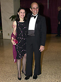 Joel Klein and his wife, Nicole Seligman, arrive for the annual White House Correspondents Association Dinner in Washington, D.C. on April 28, 2001.<br /> Credit: Ron Sachs / CNP