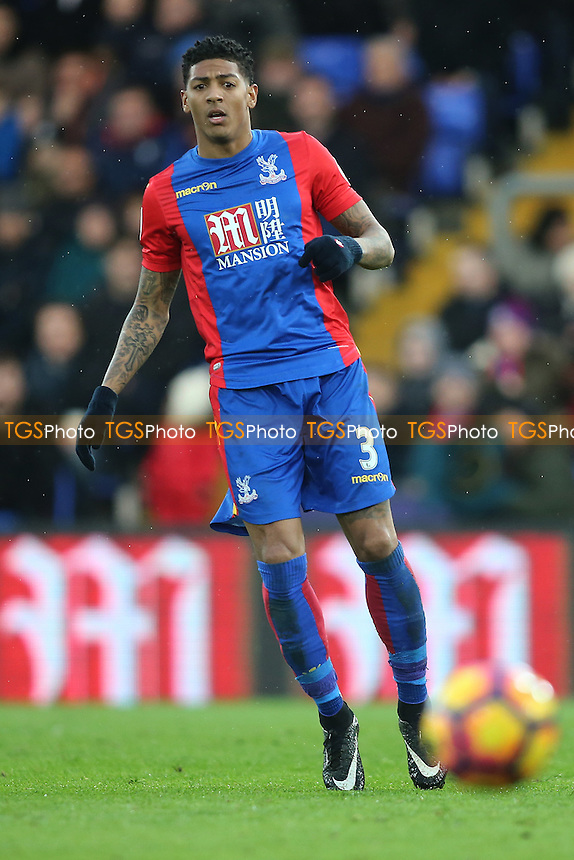 Patrick van Aanholt of Crystal Palace during Crystal Palace vs Middlesbrough, Premier League Football at Selhurst Park on 25th February 2017