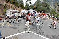 Christopher Froome, Alberto Contador, Joaquin Purito Rodriguez, Alejandro Valverde and Denis Menchov during the stage of La Vuelta 2012 between Lleida-Lerida and Collado de la Gallina (Andorra).August 25,2012. (ALTERPHOTOS/Paola Otero) /NortePhoto.com<br /> <br /> **CREDITO*OBLIGATORIO** <br /> *No*Venta*A*Terceros*<br /> *No*Sale*So*third*<br /> *** No*Se*Permite*Hacer*Archivo**<br /> *No*Sale*So*third*