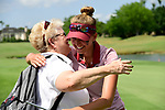 HOUSTON, TX - MAY 19: Katharina Keilich of the University of Indianapolis celebrates during the Division II Women's Golf Championship held at Bay Oaks Country Club on May 19, 2018 in Houston, Texas. Keilich one the individual nation title with a one under par 287. (Photo by Justin Tafoya/NCAA Photos via Getty Images)
