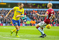 Leeds United's Luke Ayling takes on Aston Villa's Alan Hutton<br /> <br /> Photographer Alex Dodd/CameraSport<br /> <br /> The EFL Sky Bet Championship - Aston Villa v Leeds United - Sunday 23rd December 2018 - Villa Park - Birmingham<br /> <br /> World Copyright &copy; 2018 CameraSport. All rights reserved. 43 Linden Ave. Countesthorpe. Leicester. England. LE8 5PG - Tel: +44 (0) 116 277 4147 - admin@camerasport.com - www.camerasport.com