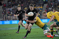 All Blacks' Ben Smith in action during the All Blacks v Wallabies. The Rugby Championship &amp; Bledisloe Cup at Westpac Stadium, Wellington, New Zealand on Saturday 27 August 2016.<br /> Photo by Masanori Udagawa. <br /> www.photowellington.photoshelter.com.