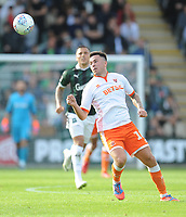 Blackpool's John O'Sullivan<br /> <br /> Photographer Kevin Barnes/CameraSport<br /> <br /> The EFL Sky Bet League One - Plymouth Argyle v Blackpool - Saturday 15th September 2018 - Home Park - Plymouth<br /> <br /> World Copyright &copy; 2018 CameraSport. All rights reserved. 43 Linden Ave. Countesthorpe. Leicester. England. LE8 5PG - Tel: +44 (0) 116 277 4147 - admin@camerasport.com - www.camerasport.com