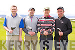 Niall Greaney, John Herlihy, Joseph Hartnett, Denis Galvin at the Mercy Mounthawk Secondary School Golf Classic Fundraiser at Tralee Golf Club on Friday
