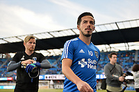 San Jose, CA - Saturday April 14, 2018: Jahmir Hyka prior to a Major League Soccer (MLS) match between the San Jose Earthquakes and the Houston Dynamo at Avaya Stadium.