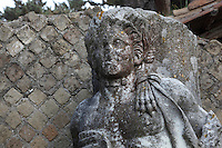 Marble statue of Pan, at the entrance of the Santuario di Attis (Shrine of Attis), late 3rd century, Ostia Antica, Italy. Picture by Manuel Cohen