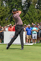 Jason Day (AUS) watches his tee shot on 4 during 2nd round of the World Golf Championships - Bridgestone Invitational, at the Firestone Country Club, Akron, Ohio. 8/3/2018.<br /> Picture: Golffile | Ken Murray<br /> <br /> <br /> All photo usage must carry mandatory copyright credit (© Golffile | Ken Murray)
