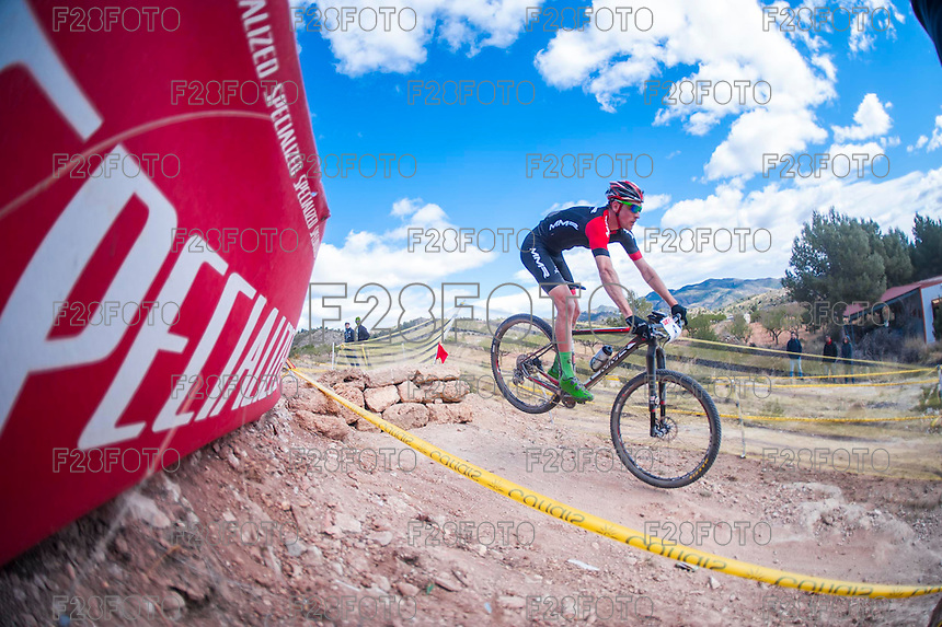 Chelva, SPAIN - MARCH 6: Pablo Rodriguez during Spanish Open BTT XCO on March 6, 2016 in Chelva, Spain