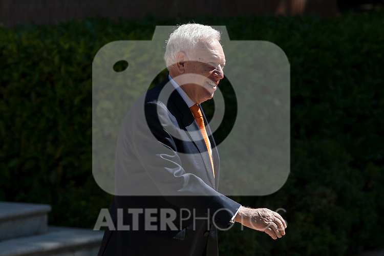 Minister of Foreign Affairs Jose Manuel Garcia Margallo during a Royal Audience at Zarzuela Palace in Madrid, Spain. April 30, 2015. (ALTERPHOTOS/Victor Blanco)