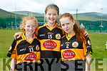 At the 4th annual Sandra Keane u/13 ladies football blitz in the John Mitchels sports complex on Saturday were Aoife O Rourke, Paula Holmes, Roise O'Donnell from Austin Stacks