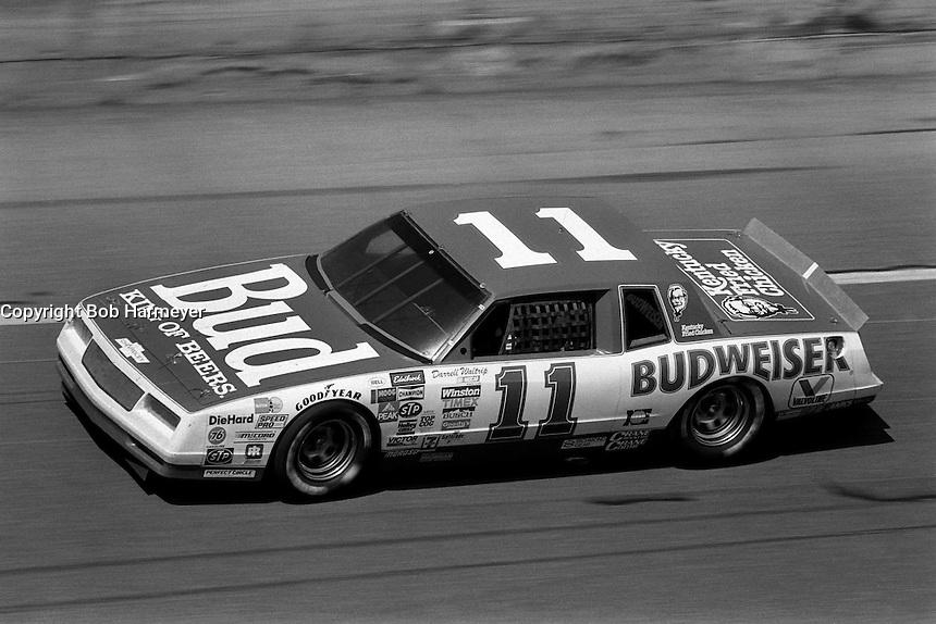DAYTONA BEACH, FL - FEBRUARY 16: Darrell Waltrip drives his Junior Johnson Chevrolet during the Daytona 500 NASCAR Winston Cup race at the Daytona International Speedway in Daytona Beach, Florida, on February 16, 1986.