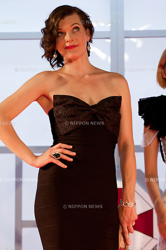 September 3, 2012, Tokyo, Japan - Milla Jovovich appears at the World Premiere  for ''Resident Evil: Retribution'' by Paul W.S. Anderson in the Roppongi Hills, Tokyo, Japan. This film will be released on September 14th. (Photo by Yumeto Yamazaki/AFLO)