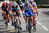14th March 2020, Paris to Nice cycling tour, final day, stage 7;  ALAPHILIPPE Julian (FRA) of DECEUNINCK - QUICK - STEP in action during stage 7 of the 78th edition of the Paris - Nice cycling race, a stage of 166,5km with start in Nice and finish in Valdeblore La Colmiane on March 14, 2020 in Valdeblore La Colmiane, France