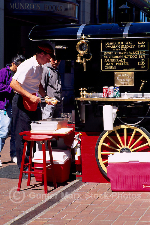 Fast Food Street Vendor in Victoria, Vancouver Island, British Columbia, Canada