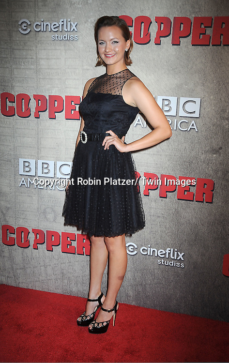 "Tanya Fischer attends the BBC America premiere of The New York 1860's Crime Drama ""Copper"" on August 15, 2012 at MoMa in New York City."
