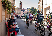 As the race rolls by at a Bar Tabacchi <br /> <br /> 101st Milano-Torino 2020 (UCI 1.Pro)<br /> 1 day race from Mesero to Stupinigi (198km)