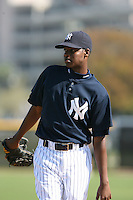 March 17th 2008:  Francisco Rondon of the New York Yankees minor league system during Spring Training at Legends Field Complex in Tampa, FL.  Photo by:  Mike Janes/Four Seam Images