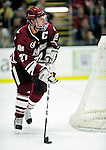 24 November 2009: University of Massachusetts Minuteman defenseman Justin Braun, a Senior from Vadnais Heights, MN, in action against the University of Vermont Catamounts at Gutterson Fieldhouse in Burlington, Vermont. The Minutemen defeated the Catamounts 6-2. Mandatory Credit: Ed Wolfstein Photo