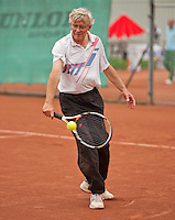 Netherlands, Amstelveen, August 18, 2015, Tennis,  National Veteran Championships, NVK, TV de Kegel, Mens 65 + years,  Klaas van Gaalen<br /> Photo: Tennisimages/Henk Koster