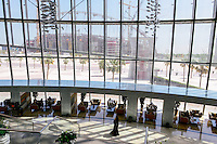 QATAR, Doha, construction site Khalifa International Stadium for FIFA world cup 2022, built by contractor midmac and sixt contract, view from Aspire tower The Torch / KATAR, Doha, Baustelle Khalifa International Stadium fuer die  FIFA Fussballweltmeisterschaft 2022