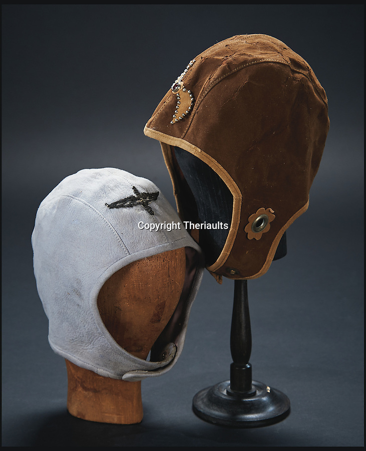 BNPS.co.uk (01202 558833)<br /> Pic: Theriaults/BNPS<br /> <br /> Shirley Temple's aviator hat from the 1934 film 'Bright Eyes'.<br /> <br /> The costumes worn by childhood movie star Shirley Temple during her Hollywood career make up a long-lost £1.5m collection belonging to the late actress.<br /> <br /> The curly-haired performer's parents made it a condition that she got to keep all of her outfits after filming rather than return them to the movie studios.<br /> <br /> The child costumes, that include the iconic red and white polka-dot dress the then six year old wore in her breakthrough role in the 1934 flick 'Stand Up and Cheer', have been locked away in a vault at her home for 75 years. They are being sold in Maryland, US.