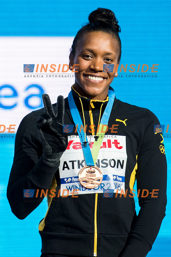 ATKINSON Alia JAM Bronze Medal<br /> Women's 100m Individual Medley<br /> 13th Fina World Swimming Championships 25m <br /> Windsor  Dec. 9th, 2016 - Day04 Finals<br /> WFCU Centre - Windsor Ontario Canada CAN <br /> 20161209 WFCU Centre - Windsor Ontario Canada CAN <br /> Photo &copy; Giorgio Scala/Deepbluemedia/Insidefoto