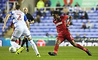 Leroy Fer of Swansea City is marked by Chris Gunter of Reading during the Carabao Cup Third Round match between Reading and Swansea City at Madejski Stadium, Reading, England, UK. Tuesday 19 September 2017