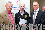 Pictured at the opening of the Tralee Chamber Alliance offices on Monday, from left: Denis Reen, Dick McElligott (Tralee Cycling club) and Sean Cooke (AIB)..