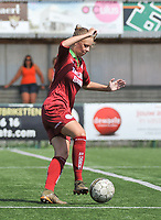 20180804 - ZULTE , BELGIUM : Zulte Waregem's Amber Baert pictured during a friendly soccer match between the women teams of Zulte Waregem and Bosdam Beveren  , during the preparation of the 2018-2019 season, Saturday 4 August 2018 . PHOTO DIRK VUYLSTEKE / SPORTPIX.BE